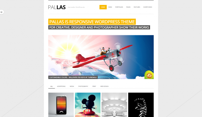 Pallas colorful WordPress theme