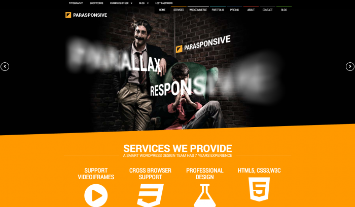 Parasponsive colorful WordPress theme