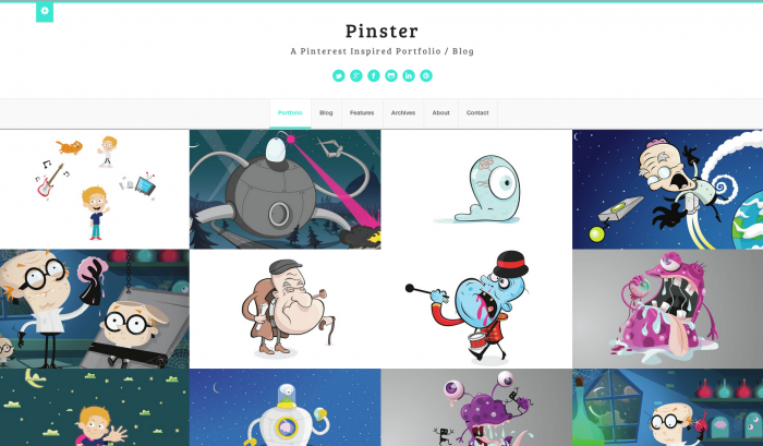 Pinster colorful WordPress theme