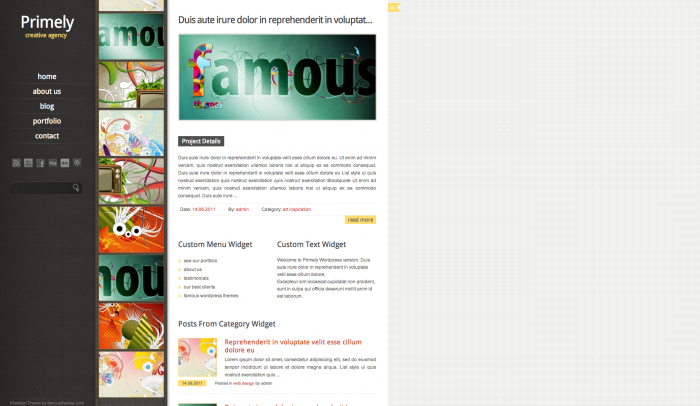Primely colorful WordPress theme