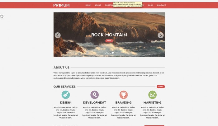 Primum colorful WordPress theme