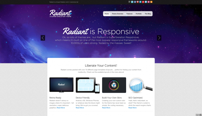 Radiant WP colorful WordPress themes