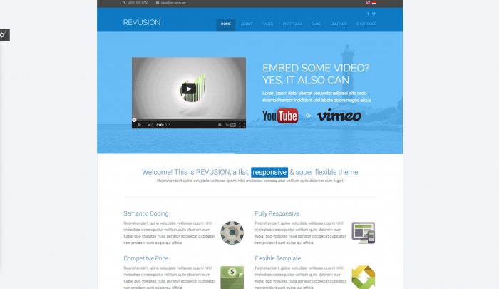 Revusion colorful WordPress theme