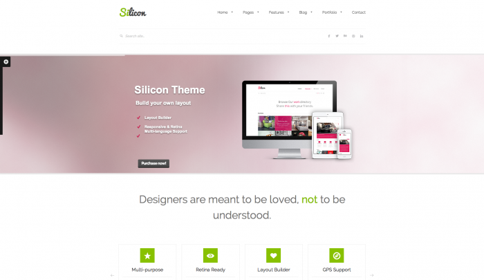 Silicon colorful WordPress theme