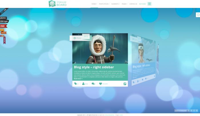 Storyline Board colorful WordPress theme