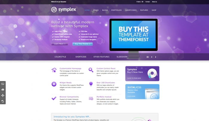 Symplex colorful WordPress themes