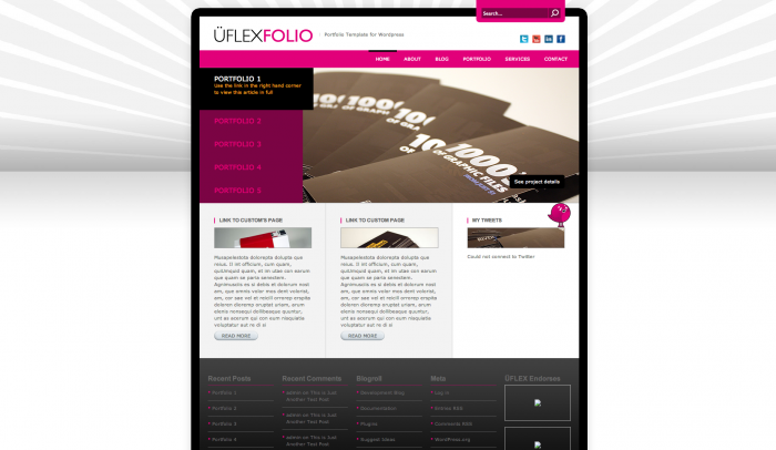 uFlexFolio colorful WordPress theme