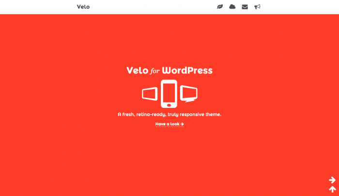 Velo colorful WordPress theme
