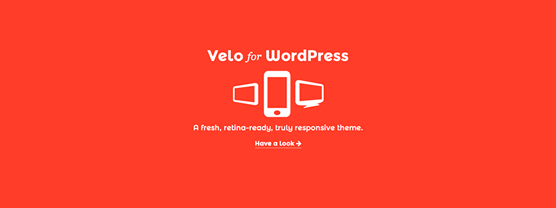 Velo WordPress theme
