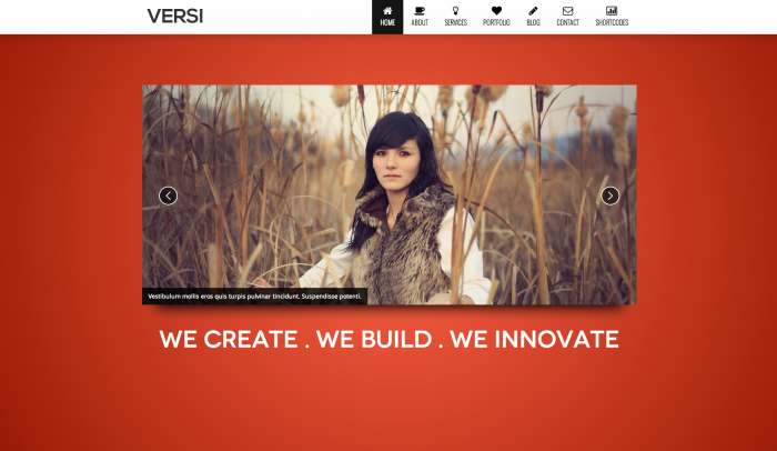 Versi colorful WordPress theme