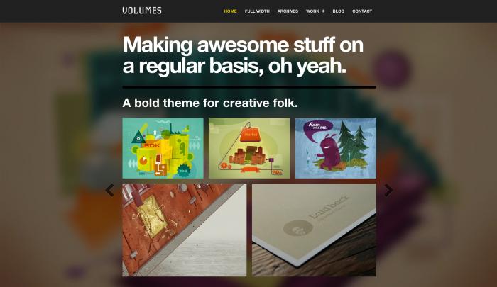 Volumes colorful WordPress theme