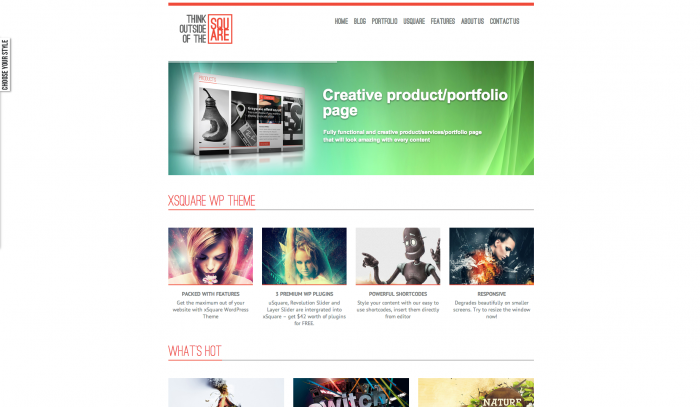 xSquare colorful WordPress theme