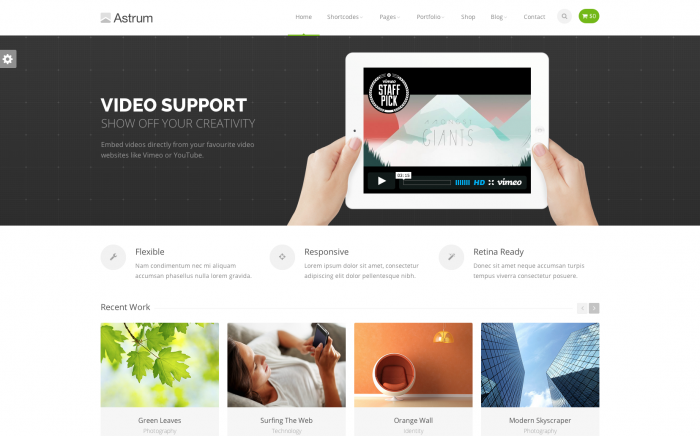 Astrum WordPress theme