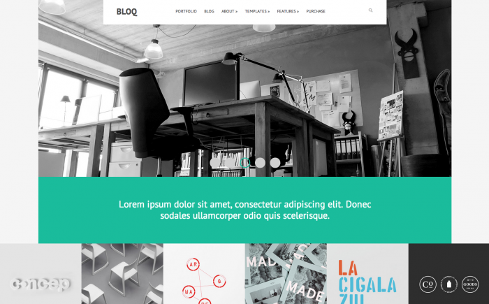 Bloq WordPress theme
