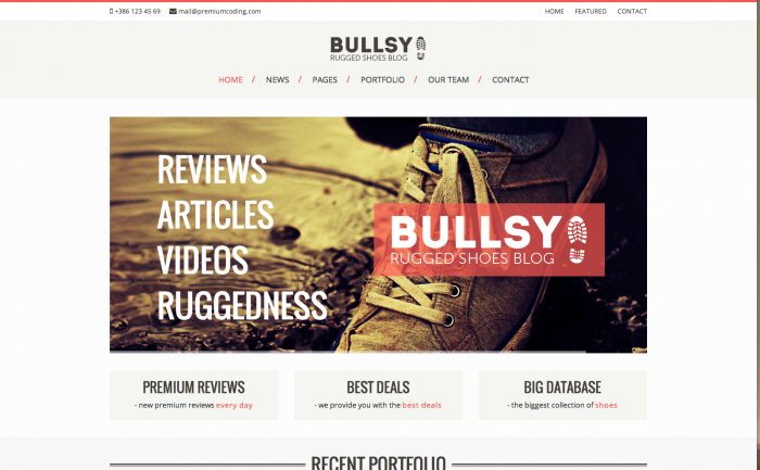 Bullsy WordPress theme