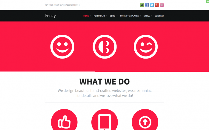 Fency WordPress theme