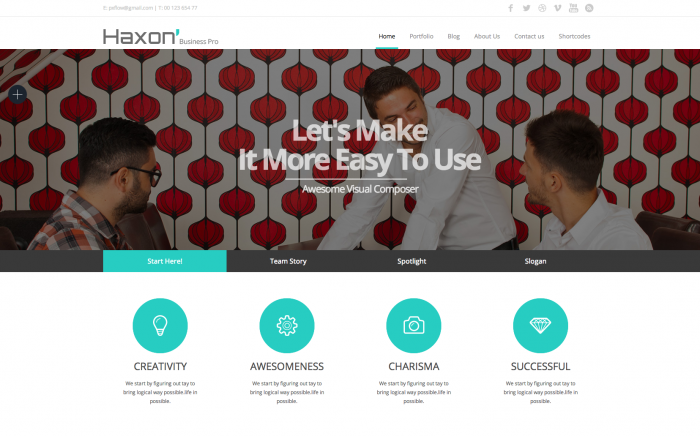Haxon WordPress theme
