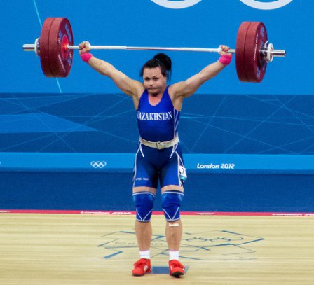 Photo of female Olympic weightlifter
