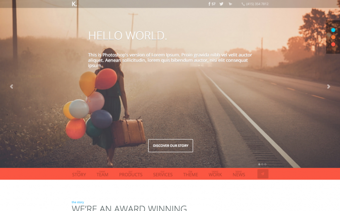 K WordPress theme