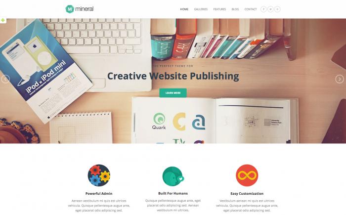 Mineral WordPress theme