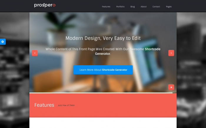 Prospero WordPress theme