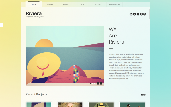 Riviera WordPress theme