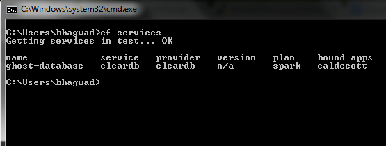 Getting existing services