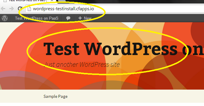 WordPress running on PaaS