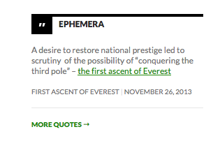 Scressnshot of the ephemera widget