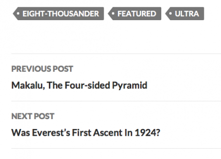 Screenshot of post and tag navigation in a post footer