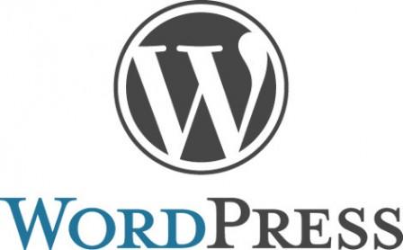 WordPress logo with text