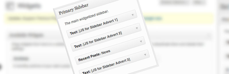 Composite image of admin interface and sidebar