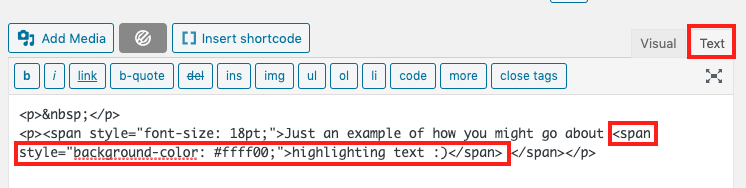 Add a simple shortcode to highlight your inline text in WordPress