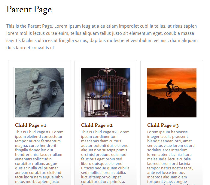 child-pages-shortcode