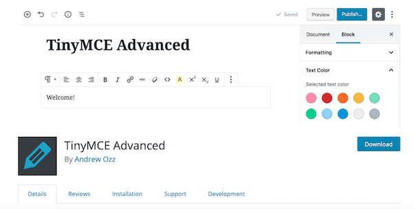 A look at the Tiny MCE plugin for WordPress