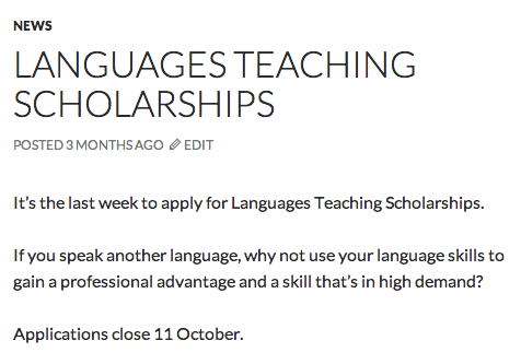 WordPress Relative Timestamp
