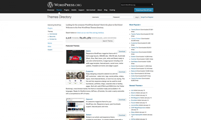 WordPress Theme Repository