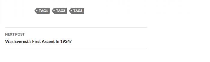 Screenshot of the default 2014 post navigation