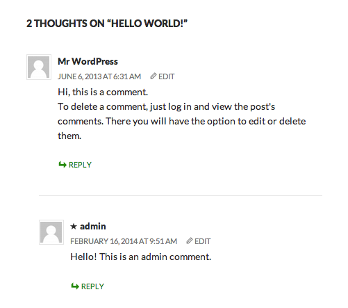 Comments section