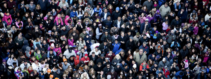 Photo of a large crowd
