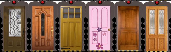A line-up of doors