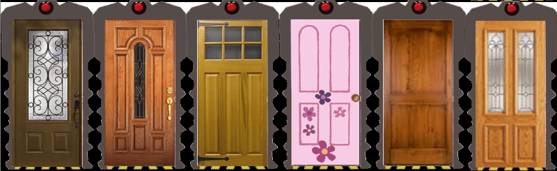 A line-up of doors