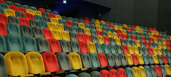 Photo of empty theater seats