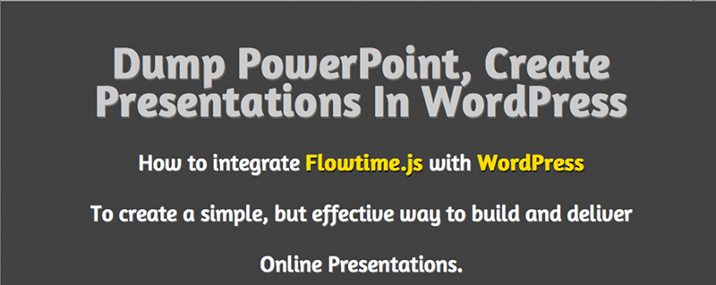 Slide from Flowtime powered presentation