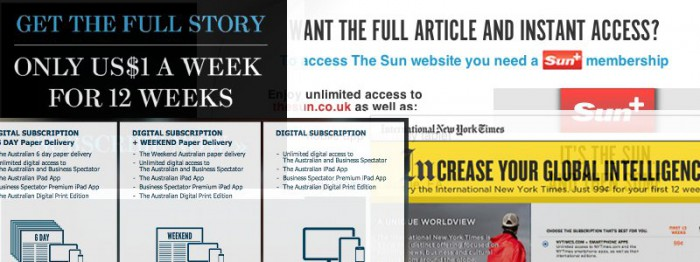 Subscriptions are now a common sight on the world's major publisher's websites