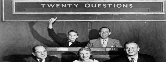Still from the 1950s tv show, Twenty Questions