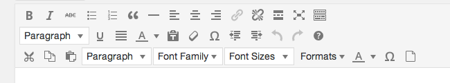 Visual editor three rows