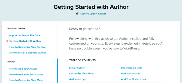 The getting started run through is a handy feature
