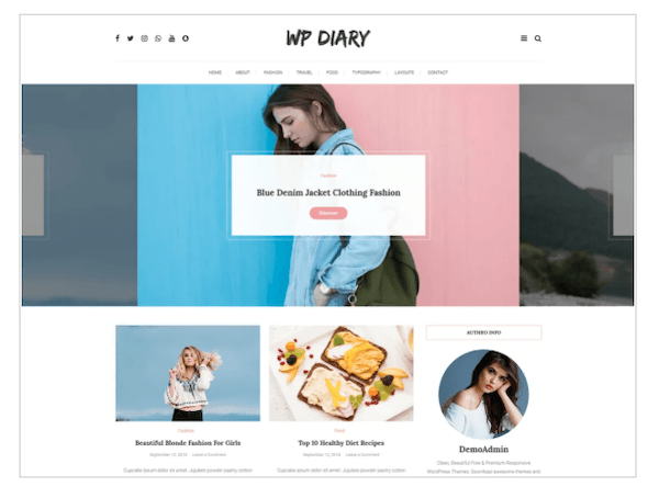 A look at the WP diary theme
