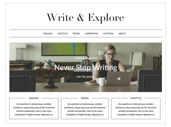 A look at the Minimalist blog theme